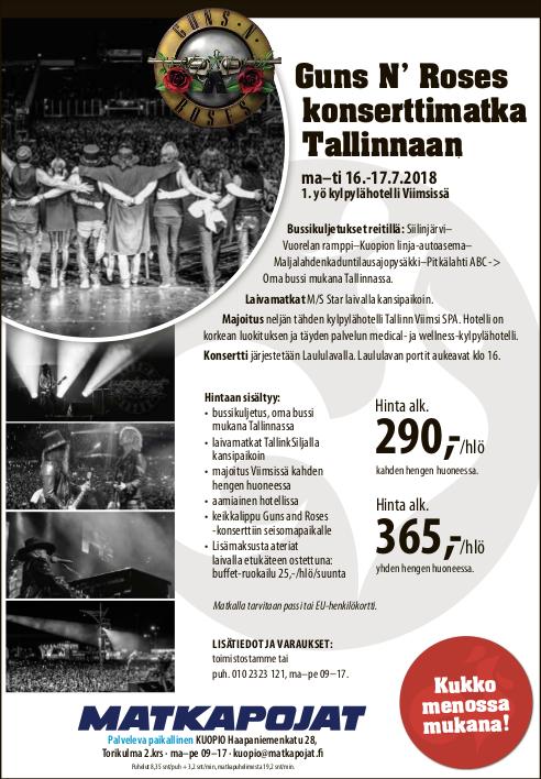 Guns N' Roses Konserttimatka Tallinnaan