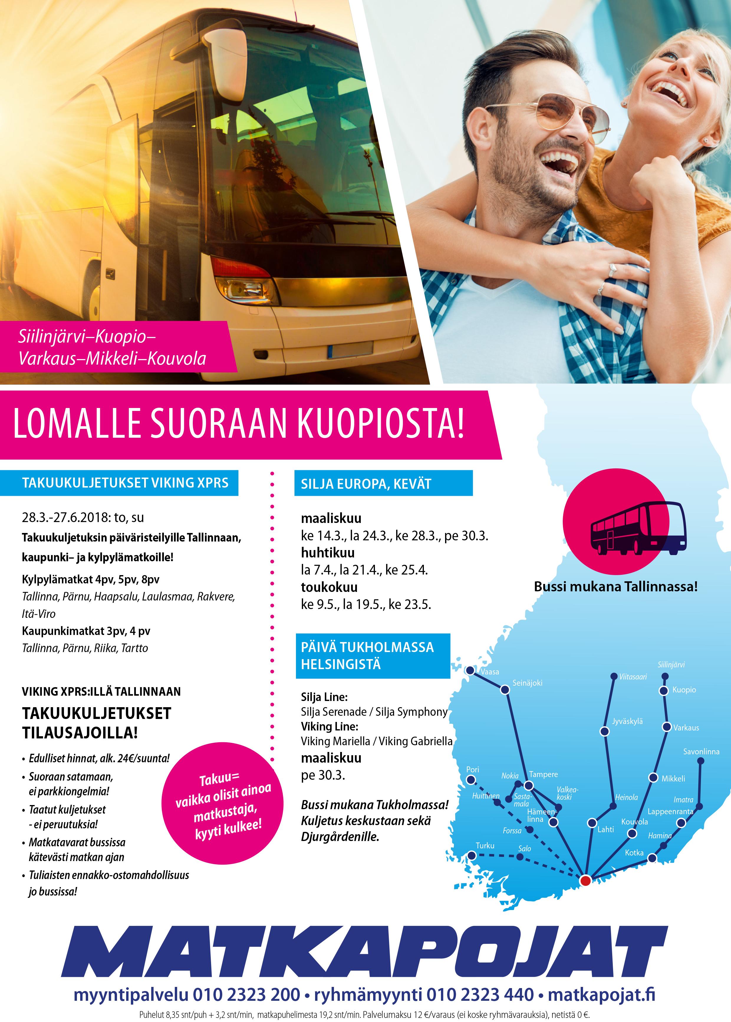 Lomalle Suoraan Kuopiosta!