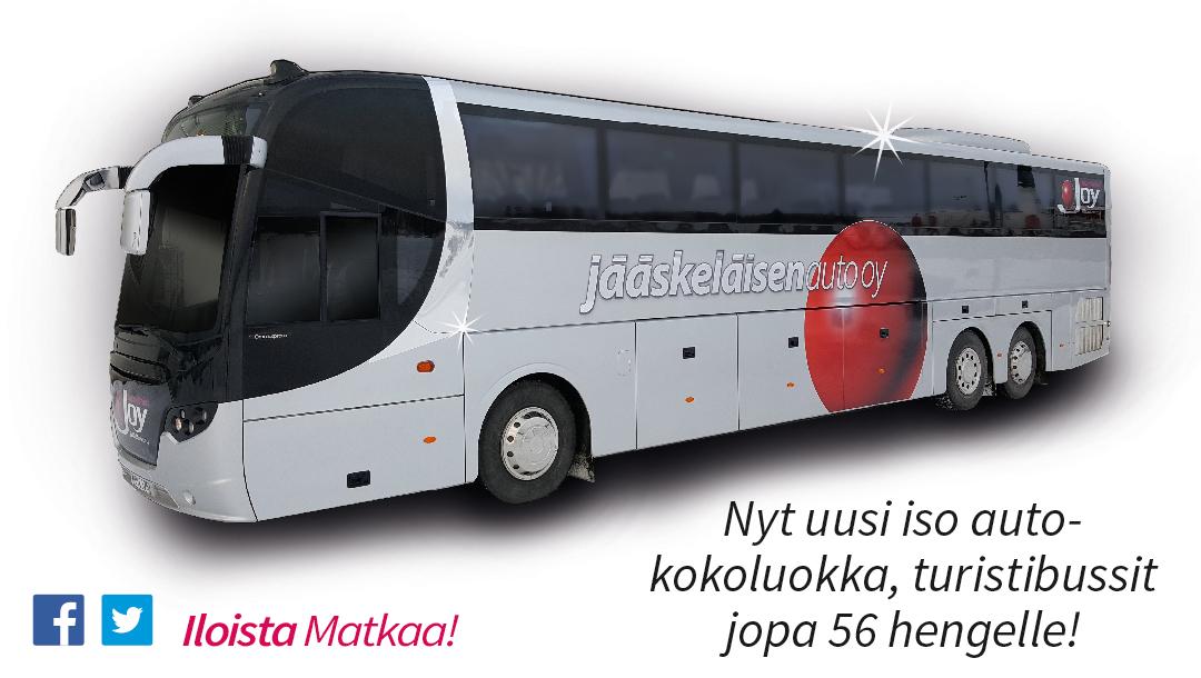Nyt Uusi Iso Autokokoluokka, Turistibussit Jopa 56 Hengelle!